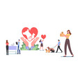 pets rescue and protection concept characters vector image vector image