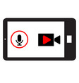 phone horizontally and record video record vector image vector image