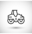 Road roller line icon vector image vector image