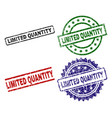 Scratched textured limited quantity seal stamps