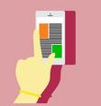 scrolling tap mobile smartphone hand gesture vector image vector image