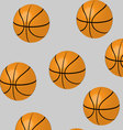 Seamless basketball pattern vector image vector image