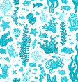 Seamless blue summer underwater pattern vector image vector image