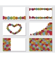 Set of greeting cards with yarn skeins Yarn balls vector image vector image