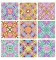 set retro seamless patterns geometric shapes vector image