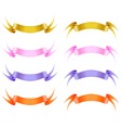 Silk ribbon set vector image vector image