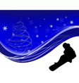 snowboard background vector image vector image