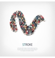 stroke people sign 3d vector image