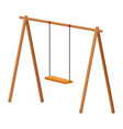 swing wooden playground game vector image vector image