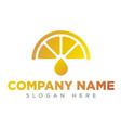 the art lemon icon logo the art orange icon logo vector image vector image