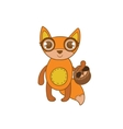 Toy Fox With Basket vector image vector image