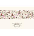 Vintage Christmas reindeer seamless pattern vector image vector image