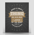 vintage inspirational and motivational quote vector image vector image