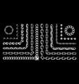vintage set chains pattern brushes vector image