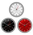 watches dials with different face colours over whi vector image