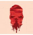 Zombie head silhouette vector image vector image
