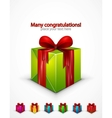 realistic gift box icon vector image