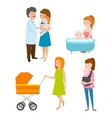 Young mother characters vector image
