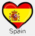 love Spain flag vector image