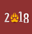 2018 year of yellow dog in chinese calendar dog vector image vector image