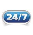 24 7 icon open 24 hours a day and 7 days a week vector image