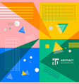 abstract colorful geometric pattern memphis style vector image vector image