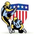 American football graphic vector image vector image