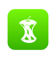 apple core icon digital green vector image vector image