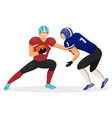 attack on opponent men play in american football vector image vector image