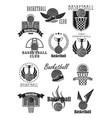 basketball club or championship award icons vector image vector image