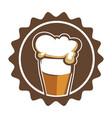 beer brewery or pub craft drink in cup vector image