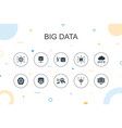 big data trendy infographic template thin line vector image