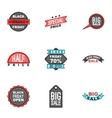 Big sale icons set cartoon style vector image vector image