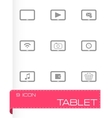 black tablet icon set vector image vector image