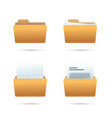 bright yellow realistic folder icons vector image vector image