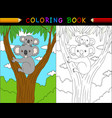 cartoon koala coloring book australian animals se vector image vector image