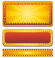 casino banner sign vector image vector image