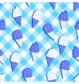 checkered background ice cream pattern vector image vector image