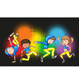 Children doing hip hop dance vector image vector image