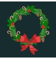 Christmas tree flat 3d isometric pixel art icon vector image vector image