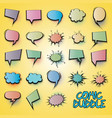 comic collection colored cloud vector image vector image