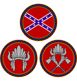 confederate flag and indian headdress vector image