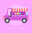 cotton candy shopping store vector image