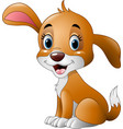 cute little dog sitting vector image vector image