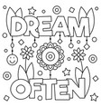 dream often coloring page vector image vector image
