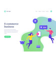 e-commerce business concept workflow flying vector image