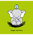 elephant sitting on the nest vector image vector image
