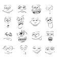 Emo faces vector image