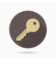 Fine Key Flat Icon vector image