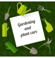 Flat design banner for gardening and plant care vector image